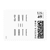 Plain White Deco | Wedding Save the Date Postage