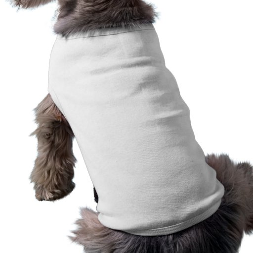 Plain White Doggie Ribbed Tank Top Dog Tee
