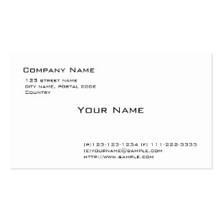 plain white Double-Sided standard business cards (Pack of 100)