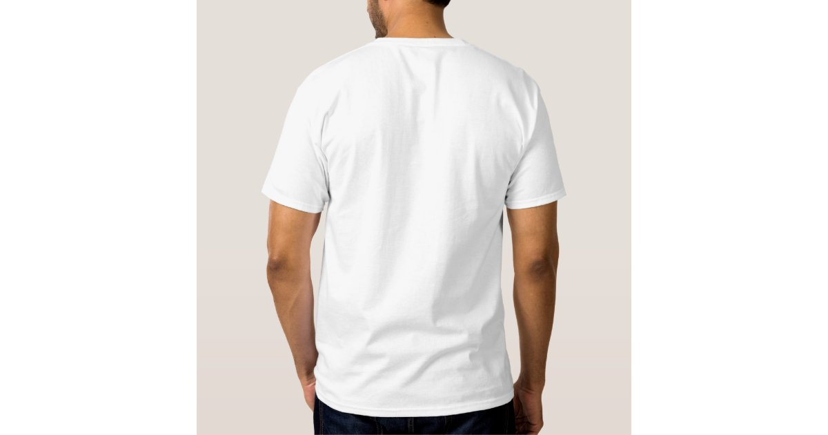 Plain White Embroidered Mens Monogram Template Embroidered T-Shirt ...