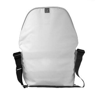 Plain white messenger bag
