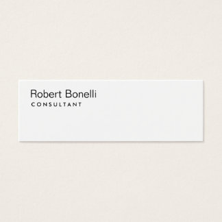 Plain White Modern Consultant Slim Business Card