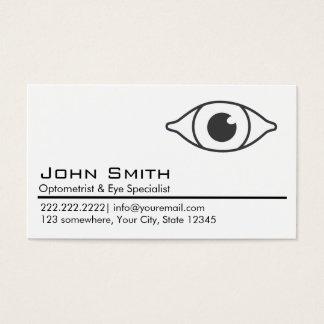 Plain White Optometrist & Eye Care Business Card