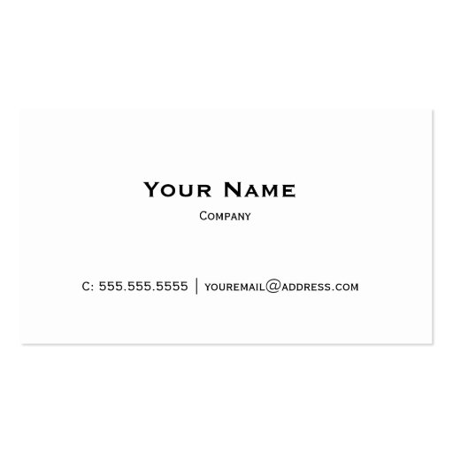 Plain White Personal or Company Business Card