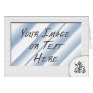 Plain White Photo Frame with Heraldic Unicorn Card