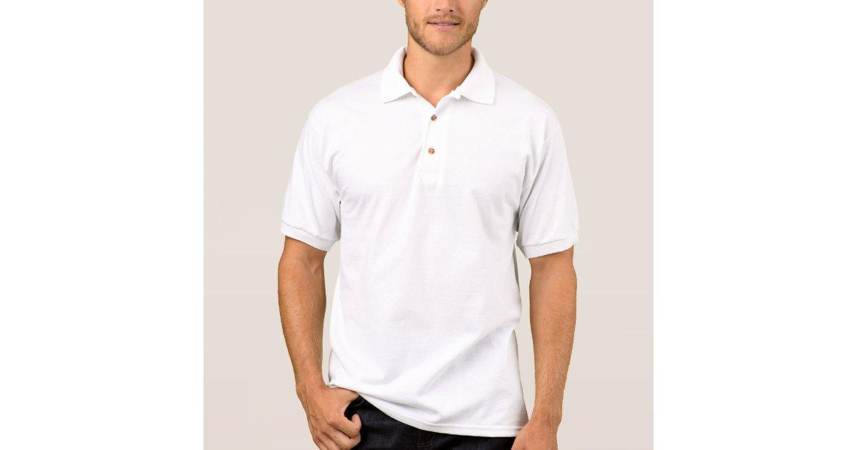 Plain white polo shirt for men | Zazzle.com