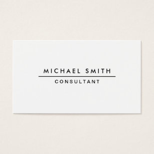 White business cards templates zazzle plain white professional elegant modern simple business card colourmoves Image collections