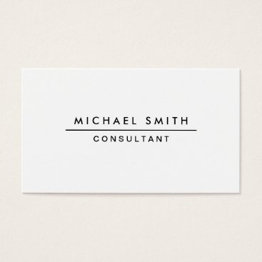 Lamborati Plain White Professional Elegant Modern Simple Business Card
