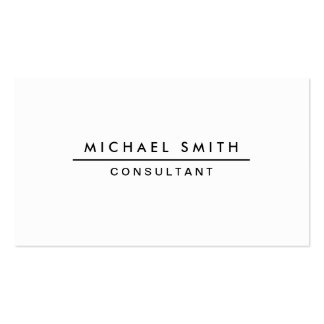 Plain White Professional Elegant Modern Simple Double-Sided Standard Business Cards (Pack Of 100)