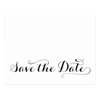 Plain White Save The Dates Postcards