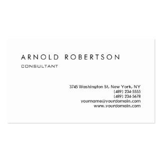 Plain White Stylish Professional Business Card