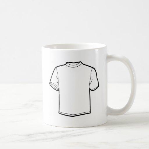 Plain White Tshirt Coffee Mugs