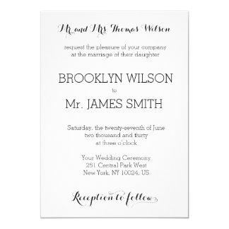 Plain White Wedding Invitations
