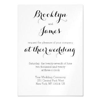 Plain White Wedding Invitations Magnets