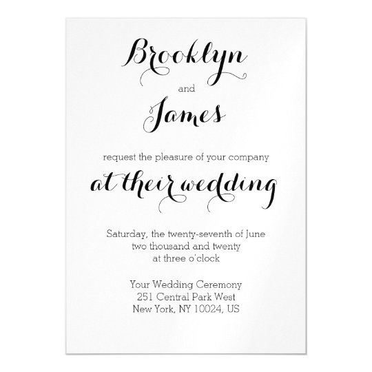 Plain White Wedding Invitations Magnets