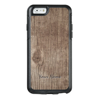Plain Wood Texture with Name OtterBox iPhone 6/6s Case