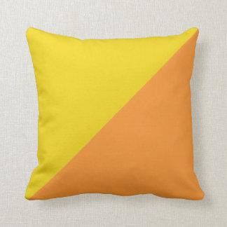 Plain Yellow and Orange Background Throw Pillow