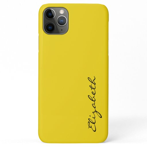 Plain Yellow Background iPhone 11 Pro Max Case