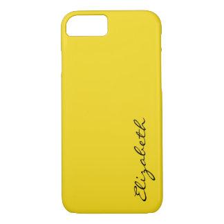 Plain Yellow Background iPhone 7 Case
