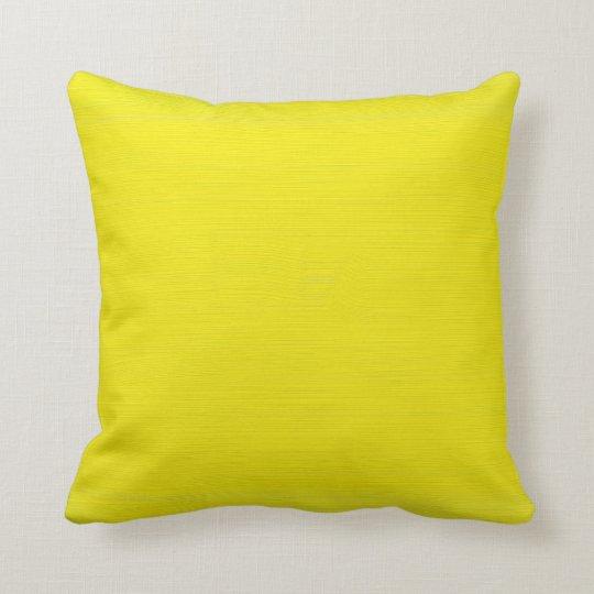 Plain yellow background throw pillow