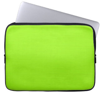 Plain yellow green background computer sleeve