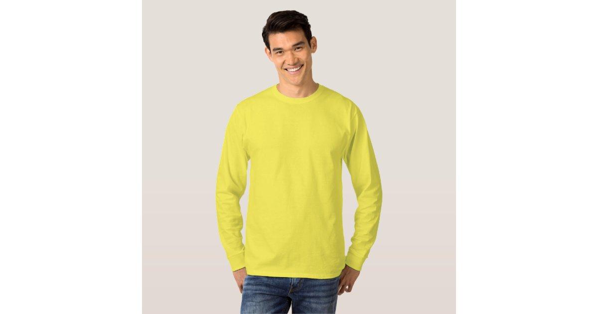 Plain Yellow Long Sleeve Shirt Artee Shirt