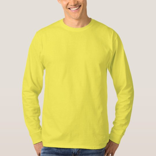 Plain Yellow Mens Basic Long Sleeve T-shirt | Zazzle.com