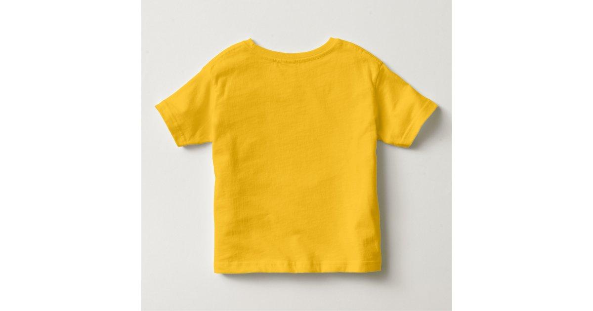 Plain yellow toddler t shirt for kids zazzle for Yellow t shirt for kids