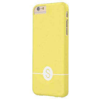 Plain Yellow White Monogram - Minimal iOS 8 Style Barely There iPhone 6 Plus Case