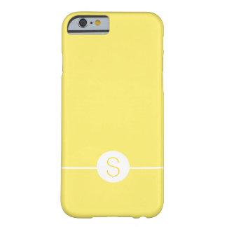 Plain Yellow White Monogram - Minimal iOS 8 Style Barely There iPhone 6 Case
