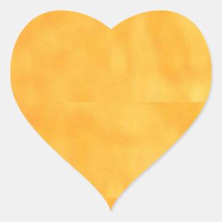 Plain YELLOW Yellowish Heart Sticker