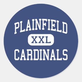 Plainfield - Cardinals - High - Plainfield Classic Round Sticker