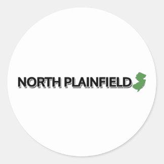 Plainfield del norte, New Jersey Pegatina Redonda