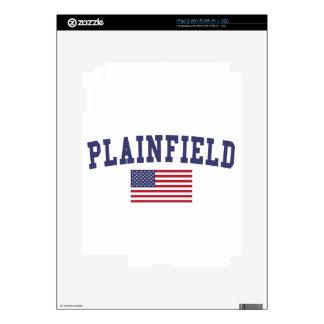 Plainfield IL US Flag iPad 2 Skins