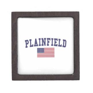 Plainfield IL US Flag Jewelry Box