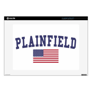 "Plainfield IL US Flag Skins For 15"" Laptops"