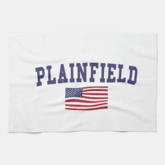 Plainfield IL US Flag Towel