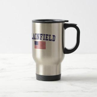 Plainfield IL US Flag Travel Mug