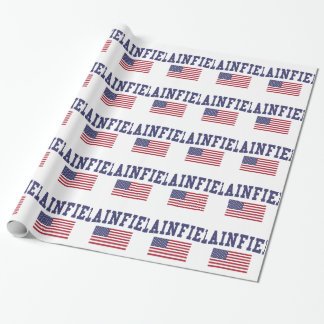 Plainfield IL US Flag Wrapping Paper