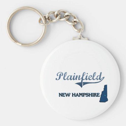 Plainfield New Hampshire City Classic Basic Round Button Keychain
