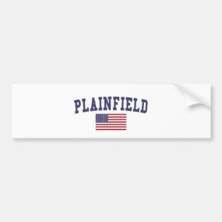 Plainfield NJ US Flag Bumper Sticker