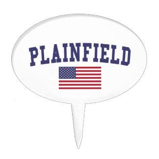 Plainfield NJ US Flag Cake Topper