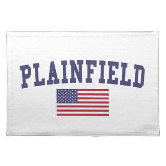 Plainfield NJ US Flag Cloth Placemat