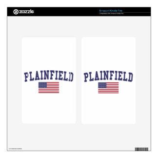 Plainfield NJ US Flag Decals For Kindle Fire