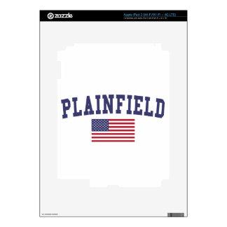 Plainfield NJ US Flag iPad 3 Decals