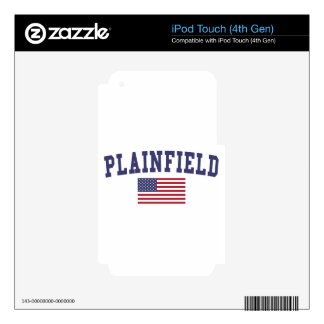 Plainfield NJ US Flag iPod Touch 4G Decal