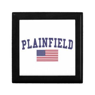 Plainfield NJ US Flag Jewelry Box