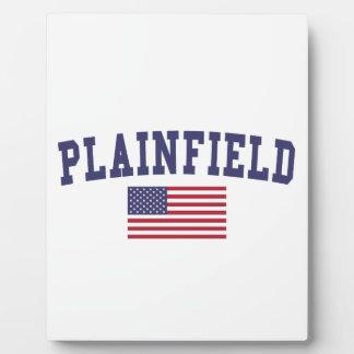 Plainfield NJ US Flag Plaque