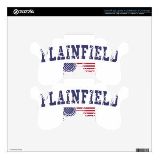 Plainfield NJ US Flag PS3 Controller Decal