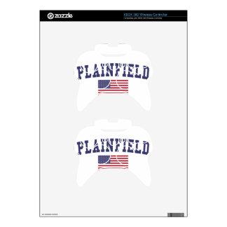 Plainfield NJ US Flag Xbox 360 Controller Decal